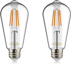 helloify Edison ST19(ST64) WiFi LED Smart Bulb, Filament Vintage Style, Tunable White Changing, Work with Alexa Google Hom...