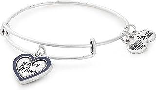 Alex and Ani Women's Navy Mom Bangle Bracelet, Rafaelian Silver