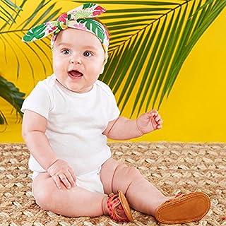 ベビーアスペン Baby Aspen 女の子用トロピカルリボン付きヘッドバンドxサンダル2点セット(0-6ヵ月用) [並行輸入品]