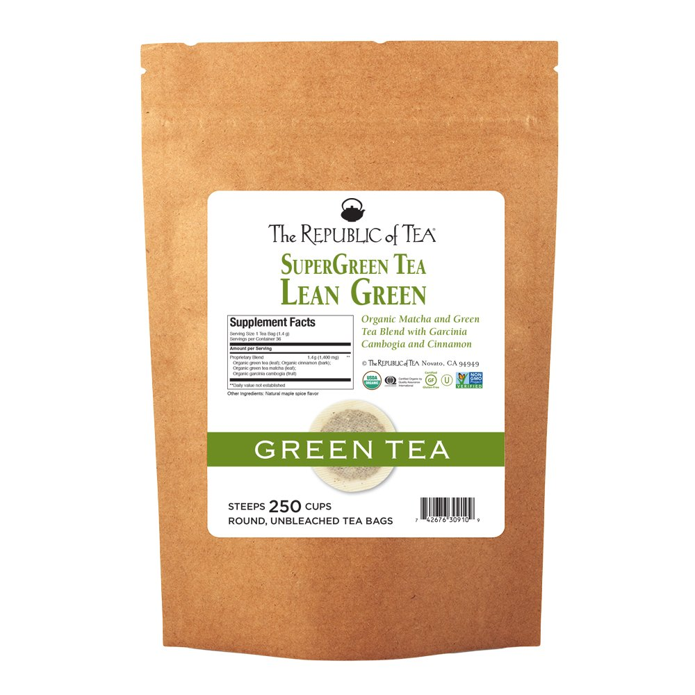 The Republic specialty shop of Tea Lean Supergreen outlet Mat 250 Green Bags