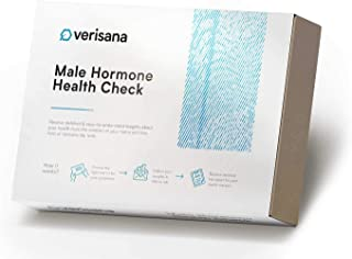Male Hormone Health Test – Measure 5 Hormones (T, Pg, C, E2, D) with Simple Saliva Test – at-Home Check for Hormonal Imbal...