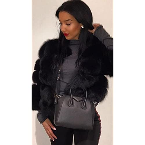 b09f3b0c28 Simplee Apparel Women's Autumn Winter Warm Fluffy Faux Fur Coat Jacket  Outerwear