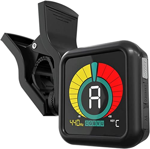 KLIQ UberTuner - Professional Clip-On Tuner for All Instruments (multi-key modes) - with Guitar, Ukulele, Violin, Bas...