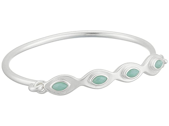Lucky Brand  Aqua Set Stone Cuff Bracelet (Silver) Bracelet