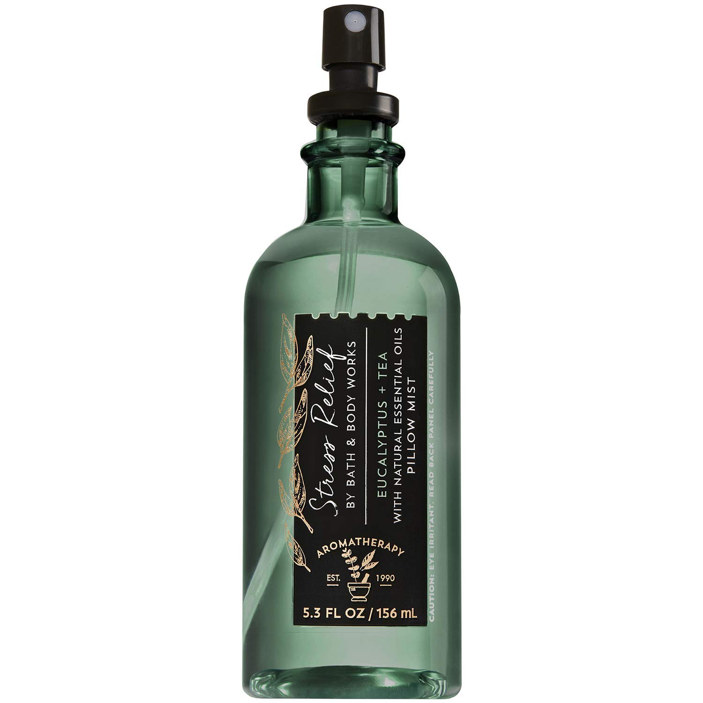 bath body works aromatherapy stress relief eucalyptus tea pillow mist 5 3 fl oz with natural essential oils