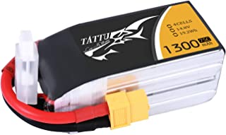 Tattu 4S 1300mAh LiPo Battery 75C 14.8V Pack with XT60 Plug for RC Boat Heli Airplane UAV Drone FPV Skylark Emax Nighthawk 250