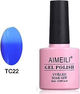 AIMEILI Soak Off UV LED Temperature Colour Changing Chameleon Gel Nail Polish - Sea & Sky (TC22) 10ml