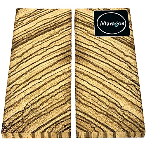 Bookmatched Zebrawood Knifes Scales, Handle Blank Exotic Knife Scales...
