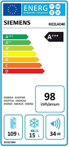 Siemens Ki22lad40 Iq500 Kühlschrank A 87 4 Cm Höhe 99 Kwh Jahr 109 L Kühlteil 15 L Gefrierteil Elektro Großgeräte
