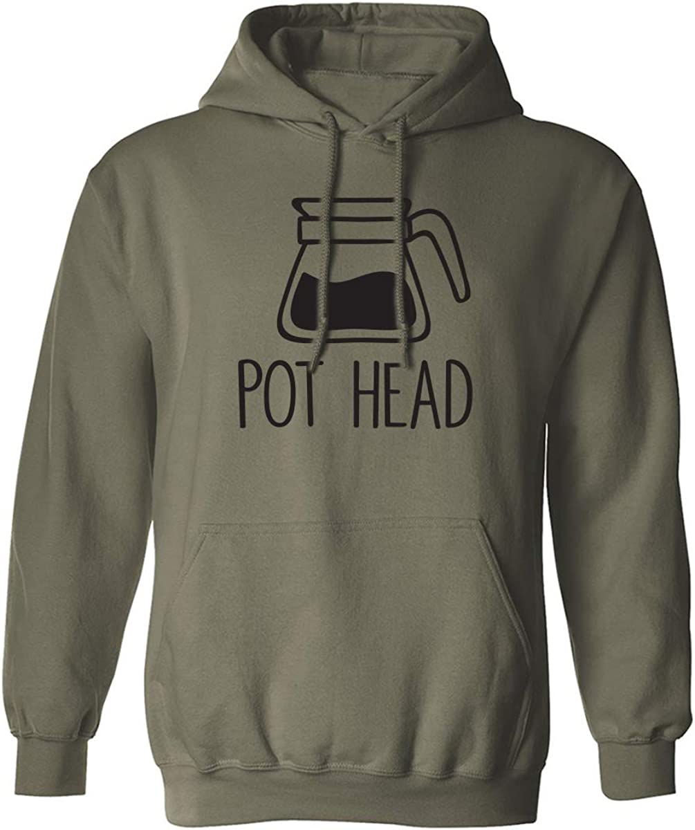 Coffee Pot Head Adult Hooded Sweatshirt