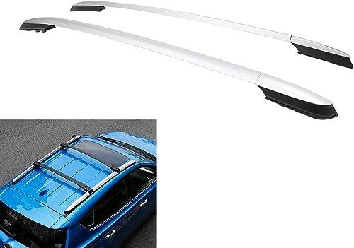 wholesale Mallofusa for 13 14 15 high quality 16 discount Toyota RAV4 Silver Roof Rack Side Rails Bars Pair Aluminum online sale