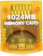 Aisicondan 1024MB(16344 Blocks) High Speed Gamecube Storage Save Game Memory Card Compatible for Nintendo Gamecube & Wii C...