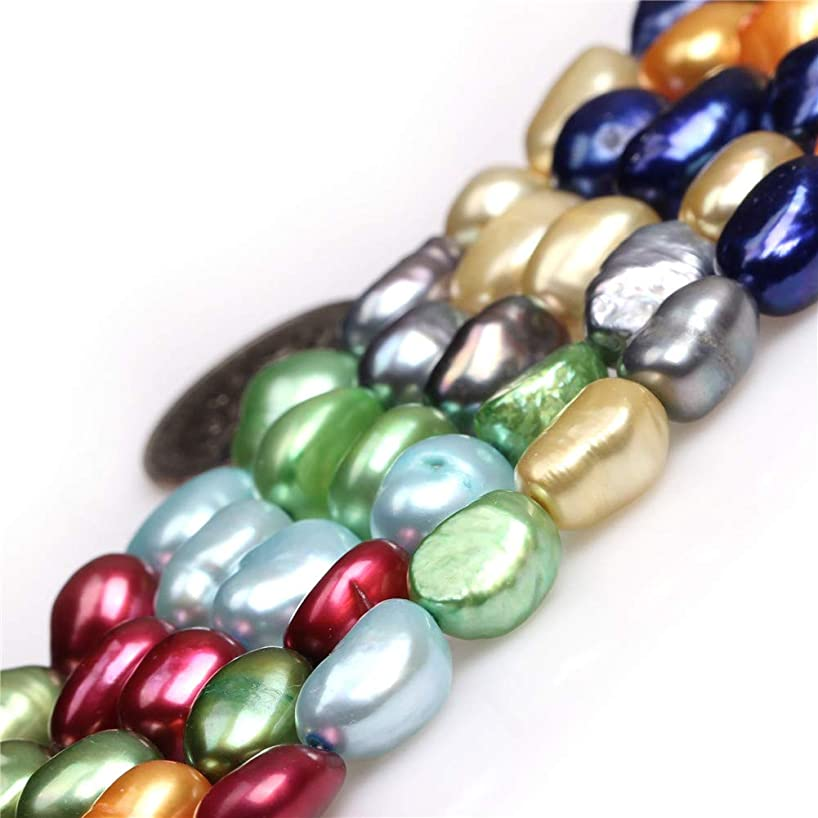 Freshwater Cultured Pearl Beads for Jewelry Making Gemstone Semi Precious 8-9x10-11mm Olivary Mixed 15