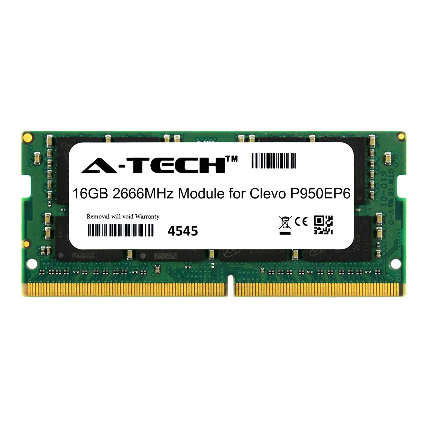 A-Tech 16GB Module for Clevo P950EP6 Laptop & Notebook Compatible DDR4 2666Mhz Memory Ram (ATMS390910A25832X1)