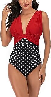 ملابس سباحة Maxee Athletic Monokini Tummy Control قطعة واحدة بالإضافة إلى ملابس سباحة للنساء