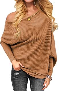 Women's Off The Shoulder Sweater Pullover Sweaters Fashion Sweatshirts for Women