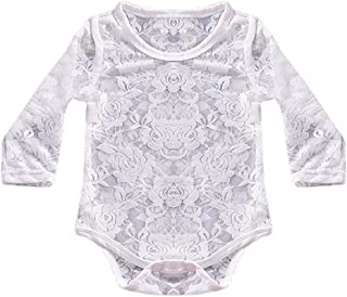 Longra Body B/éb/é Fille Combinaison Enfant Manche Longue Uni Dentelle Jumpsuit Princesse Romper Haut /à Manches Longues V/êtements de Nuit Habits B/éb/é Mode Pyjama B/éb/é Originaux