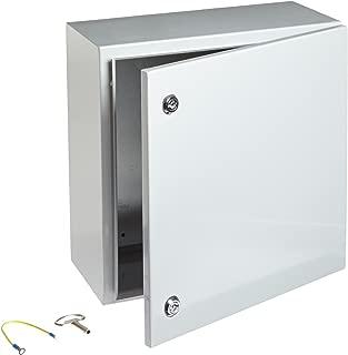 BUD Industries Series SNB Steel NEMA 4 Sheet Metal Box with Mounting Bracket, 15-3/4
