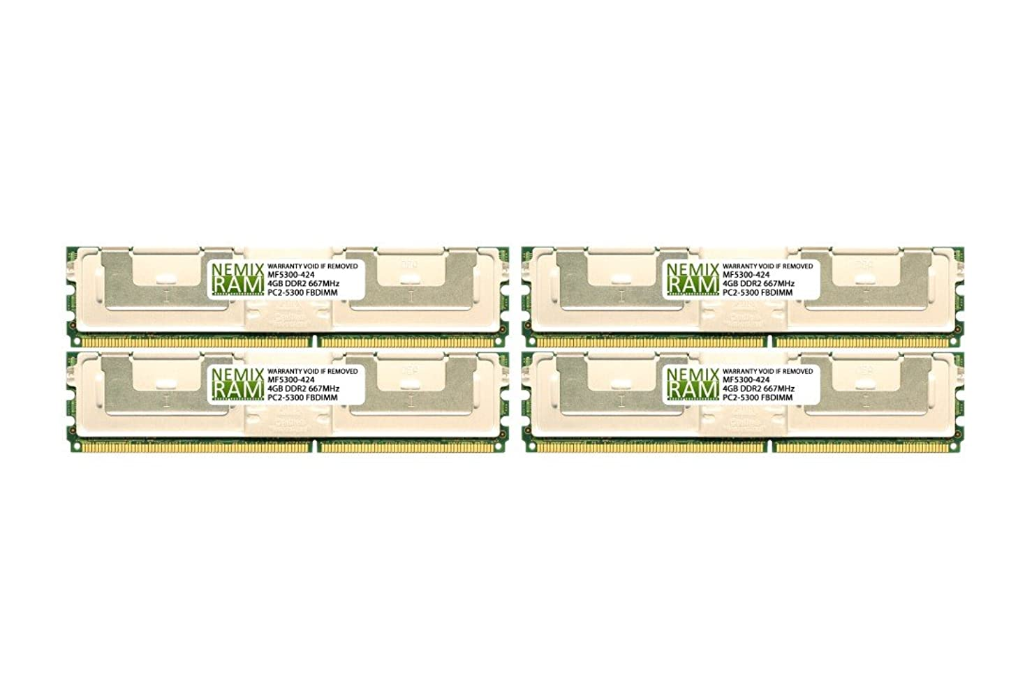 Dell Compatible 16GB (4X4GB) RAM Memory for DELL Precision Workstation 690 690N PC2-5300 FBDIMM