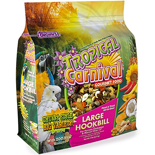 F.M. Brown's Tropical Carnival Gourmet Large Hookbill Food for Parrots, Cockatoos and Macaws