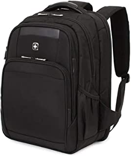 SWISSGEAR 6392 ScanSmart Ultra Premium Large Padded Laptop TSA Friendly Backpack - Black on Black