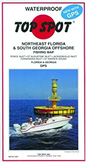 Top Spot Fishing Map for Northeast Florida/Southern Georgia