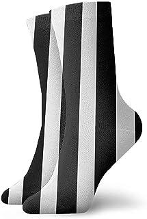 Dydan Tne, Calcetines de Vestir de Rayas Blancas Negras Calcetines Divertidos Calcetines Locos Calcetines Casuales para niñas Niños