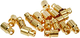Karcy Banana Plugs Rc Bullet Connectors 8mm Banana Bullet Female and Male Gold 10 Pairs