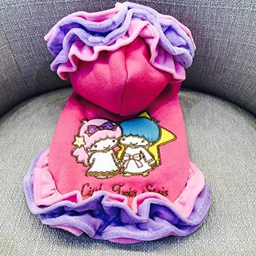 Dog Jacket Winter Vest Jackets,Rosa Double Star Baby Plus Samt Petdog Wasser Winter Warm Outfit Große Arm Kaltem Wetter Mäntel Groß Mittel Klein Gepolsterte Overall Katze Vlies Chihuahua Kalt, Bi