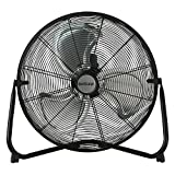 "HGC736476 Floor Fan-20 Inch, Pro Series, High Velocity, Heavy Duty Metal for Industrial, Commercial, Residential, Greenhouse Use-ETL Listed, 20"", Black"