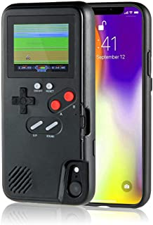 LayOPO Gameboy iPhone Case, iPhone Case Game Console with 36 Small Games,Color Screen,Retro 3D Gameboy Design for iPhone Xs/X,iPhone8/8 Plus,iPhone 7/7 Plus,iPhone 6/6Plus (iPhone XR, Black)