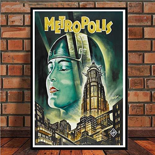 MXLF Lienzo Pintura Retro Vintage Alemania Metropolis película de película de Fritz Lang Arte del Cartel Cuadro de la Pared pósters y impresión de la Pintura de Habitaciones Decoración Pinturas