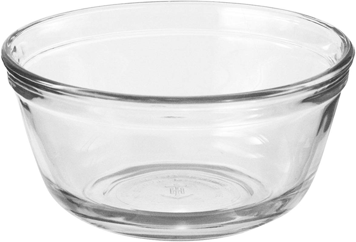 Anchor Hocking Glass Food Prep And Mixing Bowls 2 5 Quart Set Of 6