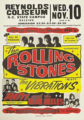 Affiche Prints RR13 - Póster de Rolling Stones Rock & Roll con diseñ