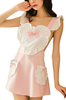 Women's Sexy Girl Cosplay Maid Lingerie Apron Set
