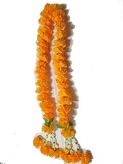 Thai Artificial Yellow Marigold Garland/Size :50 cm, by Jakapan.