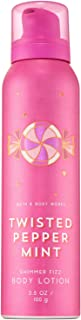 Bath and Body Works TWISTED PEPPERMINT Shimmer Fizz Body Lotion 3.5 Ounce (2018 Edition)