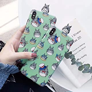 Gentra 3D Cute Cartoon Totoro Toys Silicon Phone Case for iPhone 7 8 Plus Case for iPhone X XR XS MAX Cover Cases Coque (st, for iPhone 7plus 8plus)