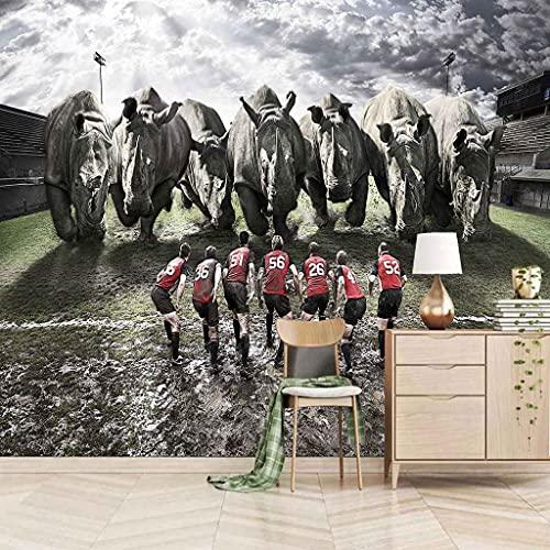 KZSDFT Papel Pintado Fotográfico 450x300 cm ( ANxAL ) 3D Toreo Para niños y niñas Salón Dormitorio fondo de TV Despacho Pasillo murales decoración de paredes moderna