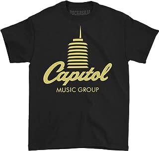 Capitol Records Men's Tower Logo T-Shirt Black