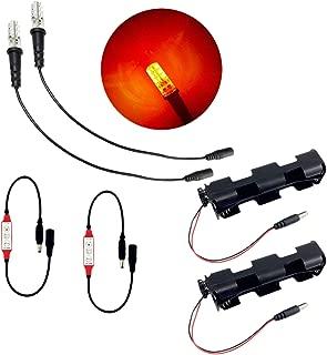 2 件装 Ember 橙色火焰仿真 LED 灯套件,带有闪烁效果控制野营道具剧院风景假火焰燃烧煤
