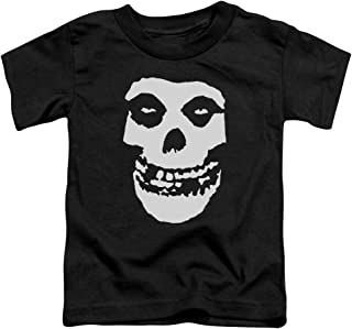 Misfits Fiend Skull Little Boys Shirt Black MD (3T)