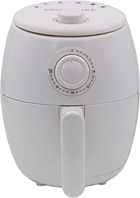 FRIGIDAIRE EAF180-WHITE, 1.8 Qt Air Fryer-Oil-Free Healthy Cooking-Digital Controls-Removable, Dishwasher-Safe Pan and Tray, 1.8qt, White