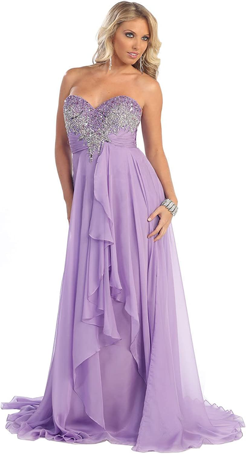 Royal Queen RQ7087 Special Occasion Strapless Dress
