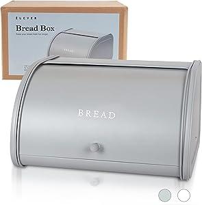 Bread Box for Kitchen Countertop - Farmhouse Kitchen Decor Bread Boxes For Bread Loaf | Modern Farmhouse Decor Bread Storage | Stainless Steel Bread Container, Large Kitchen Storage Bread Basket