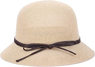 SHENTIANWEI Hat Ladies Summer Sun hat Holiday Vacation Grass Outdoor Sun hat hat Wild Straw hat (Color : White, Size : M56-58cm)