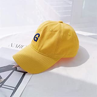Lei Zhang Spring and Summer Baseball Cap ins Wild Retro Small Letters Soft-top Tide Men and Women Sun hat Sun Visor Cap Child (Color : Yellow, Size : Adjustable)