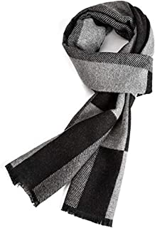 Warm Autumn and Winter Scarf, EONPOW Mens Classic and Elegant Plaid Scarves