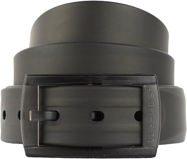 Cintura in gomma e plastica | nickel free, anallergica, senza metallo | black recycle B071F7CQHY