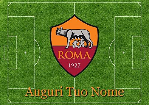 Partycolare Cialda per Torta Campo Calcio Stemma Roma - da Personalizzare - roma001